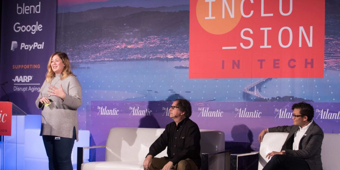 Blend employees at Atlantic Inclusion in Tech event